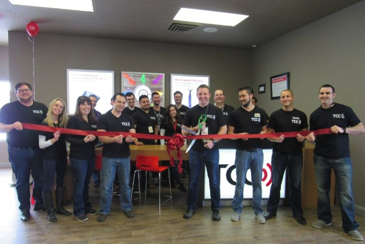 Ribbon cutting for new store