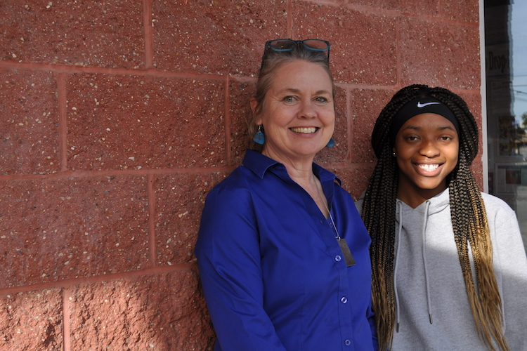 On the Ground Northside Project Editor Theresa Coty O'Neil and Ke'Asia Shepherd-Friday, the first youth correspondent for On the Ground.