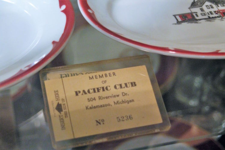 Murphy Darden has several dishes and plates from the Pacific Club, an elite black club formerly located on Riverview Drive and East Main in the 1950s.