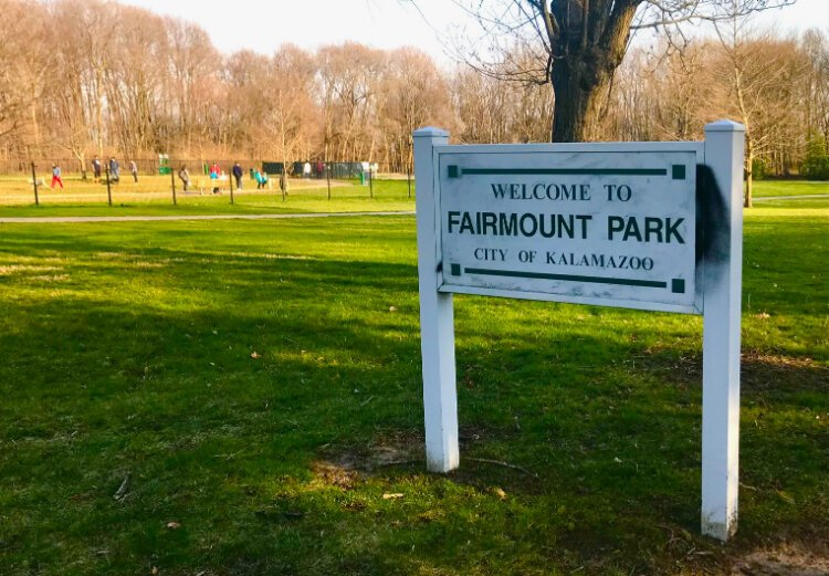 Fairmount Dog Park is one of the large greenspaces in the West Douglas Neighborhood.