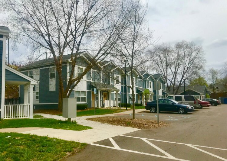 Among the major housing developments in the West Douglas Neighborhood are Fox Ridge Apartments, a complex with 216 units off Alamo Avenue, and the 33-unit Summit Park Apartments off Douglas Avenue at 1117 Summit Ave. (shown here)