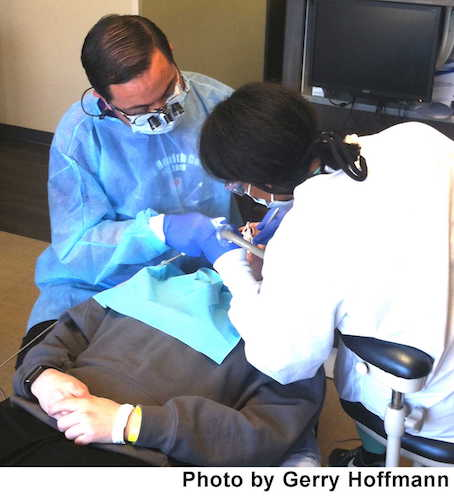 Twenty area dentists and fourth-year dental students from the University of Michigan volunteered to provide free dental care.