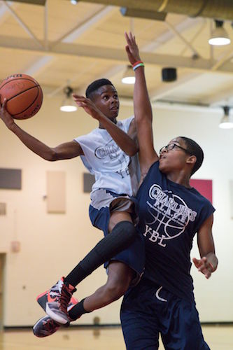 The Youth Basketball League, a signature program of Charlie's P.L.A.C.E., serves close to 500 youth each year.