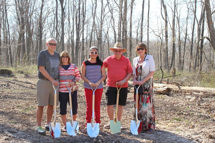 The Zanetti Family at the Groundbreaking for the new African Painted Dogs Exhibit