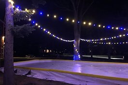 The ice rink at Heritage Square in Marine City