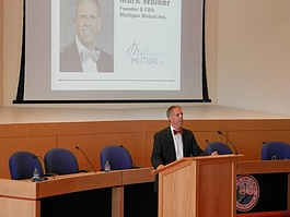 Mark Walker, CEO of Michigan Mutual, Inc. encouraged the audience to not be afraid of stepping outside your comfort zone