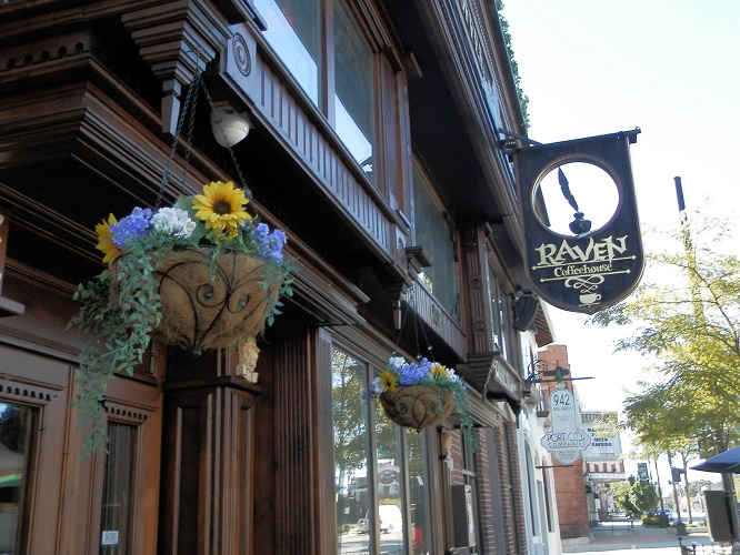 The Raven Cafe offers great coffee and a good atmosphere to chill out.