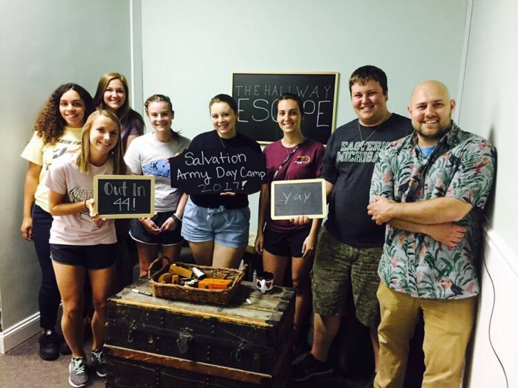 The escape room proved to be an easy task for this team that finished in just 44 minutes.