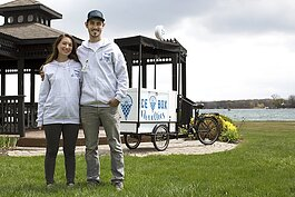 Algonac residents Liz and Danny Walker started Ice Box Novelties in April 2021. In addition to peddling ice cream around the community, both balance full-time jobs.