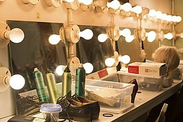 The cast's makeup area at the Richmond Community Theatre (RCT) has recently gotten a face lift.