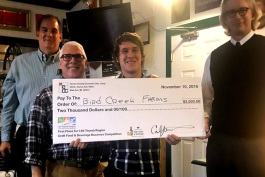 Bird Creek Tap Room won the Catapult to Craft competition for Huron County.
