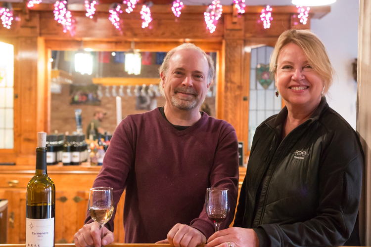 Steve Veloff and Connie Currie of Blue Water Winery.