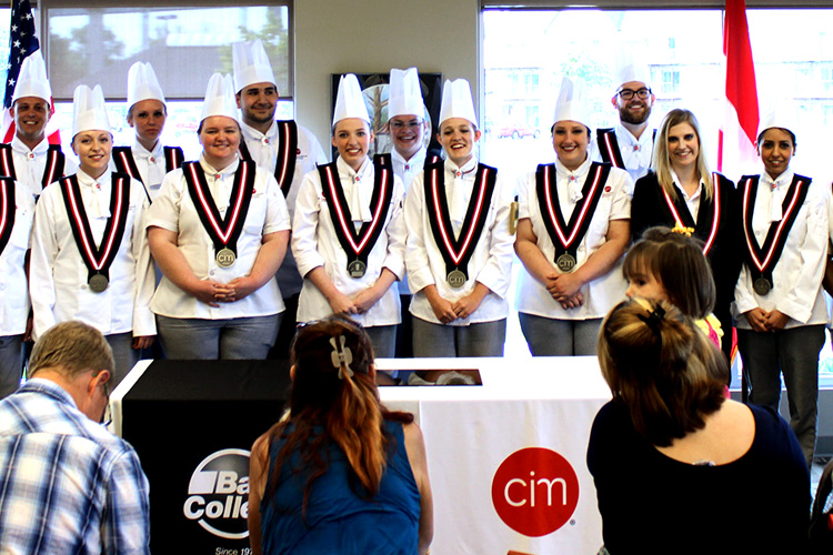 A recent graduating class at the Culinary Institute of Michigan - Port Huron.