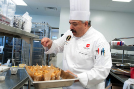 Chef Thomas Recinella at work.