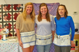 Sierra and Sheena from Indiana created an apron as part of their Airbnb Experience with Colleen Ruedisueli.