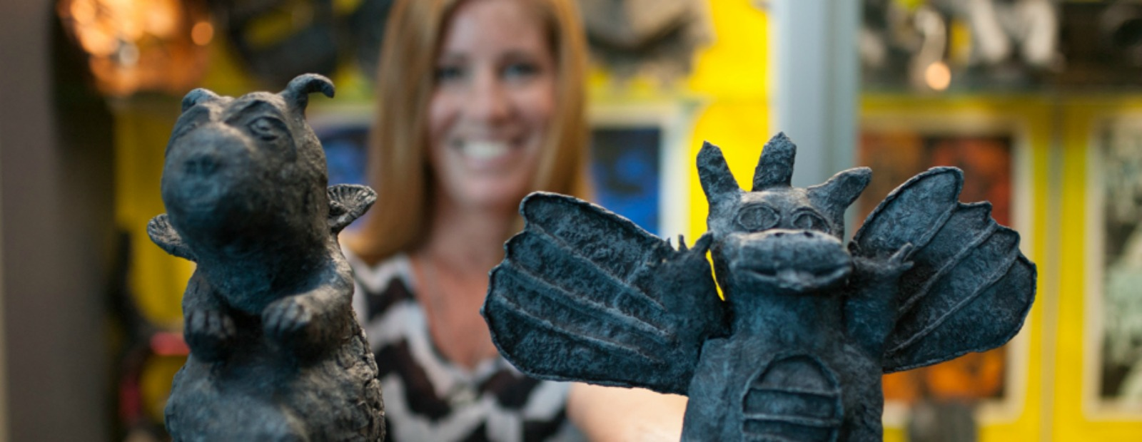 Student-made gargoyles will be on display at Art In The Park <span class='image-credits'>Heather Burt</span>