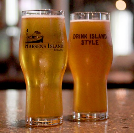 Two summer ales on tap at Harsens Island Brewery.