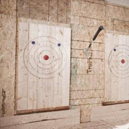 Axe throwing is on tap this summer at Blue Water Axe.