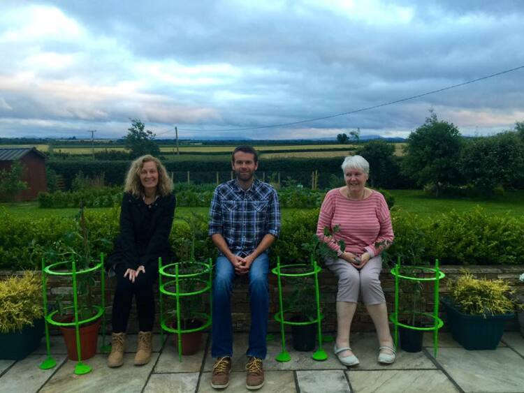 Cathy Daniel with Irish cousins Conor Foxton and Mary Foxton in June in Nenagh, Ireland.