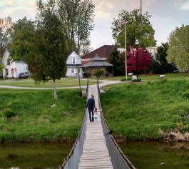 The Croswell swinging bridge
