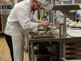 Students from the Culinary Institute of Michigan compete in the SKILLS USA Post Secondary Michigan State Championship.