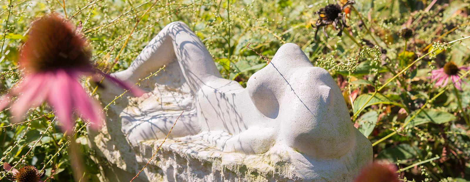 Artist Dave Fry creates sculptures, enjoying the beauty within rocks and boulders.