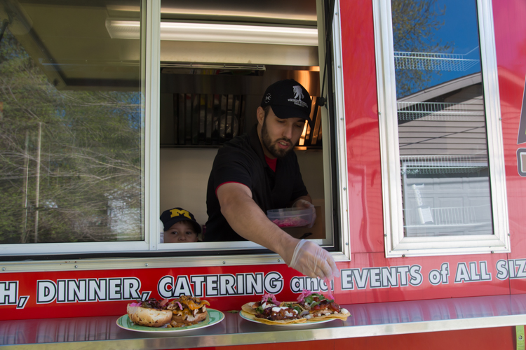 Gary Lokers serves up good food, fast from his food truck.