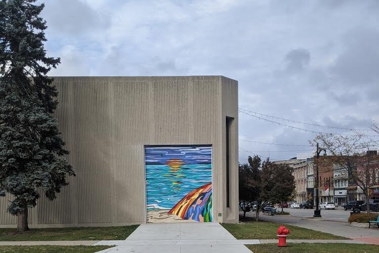 The new mural on the MiMutual Mortgage building in Port Huron