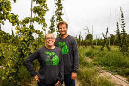 Shannon and Scott Schwabe own Hoppily Ever After Farms.