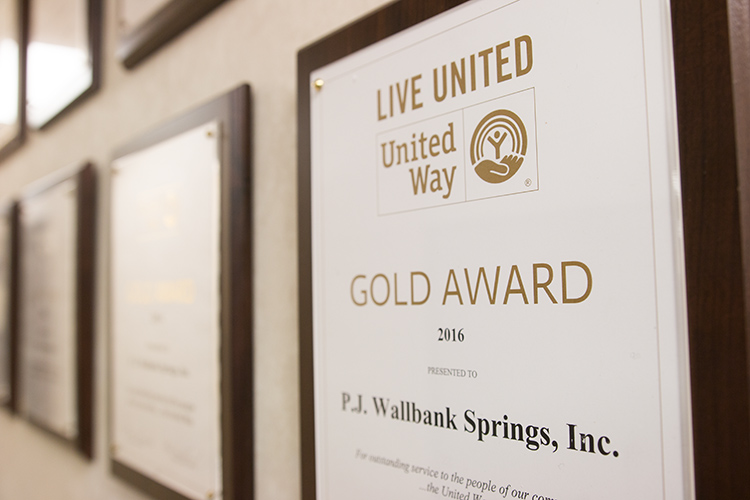 P.J. Wallbank Springs also makes a strong investment in the community.