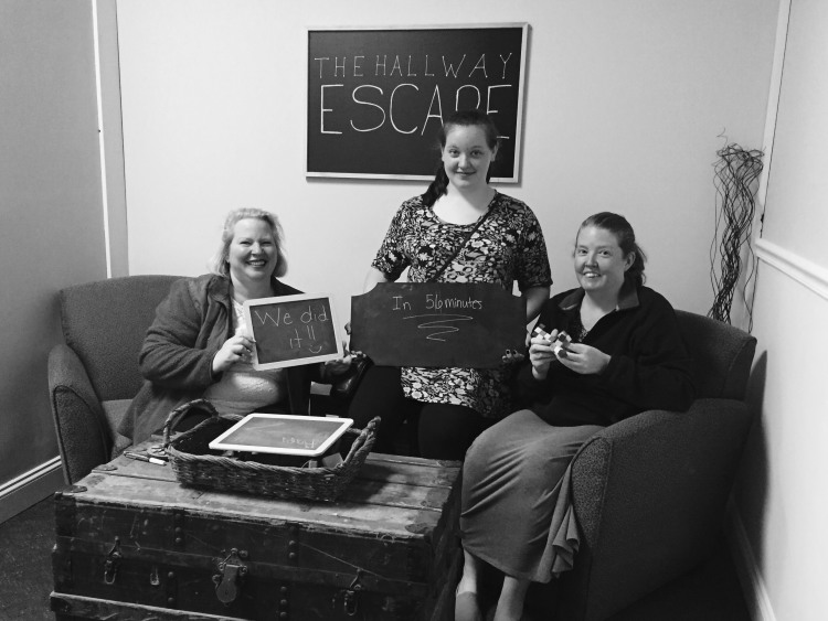 These ladies managed to solve the puzzle and escape with a few minutes to spare