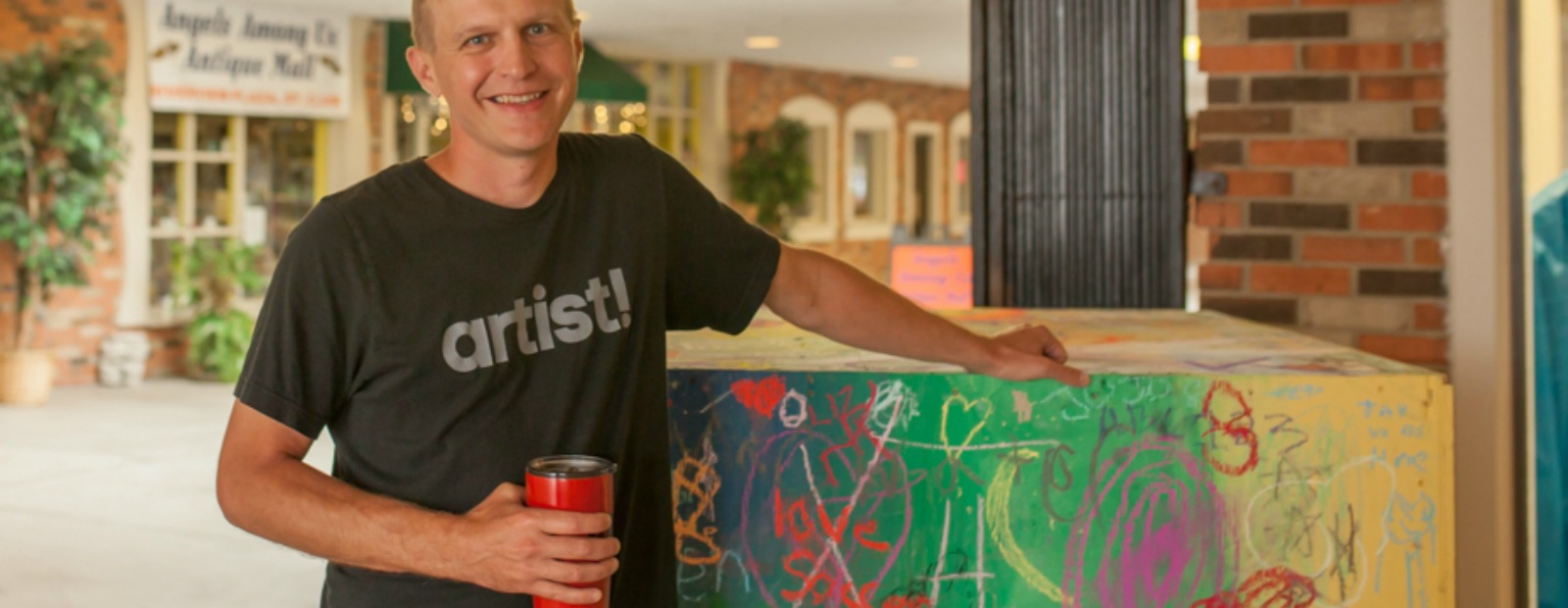 Jason Stier is heading a community art project in St. Clair to bring residents together