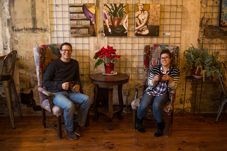 Nathaniel and Maggie Bottenfield are eager to make their coffee shop dreams come true at Exquisite Corpse.