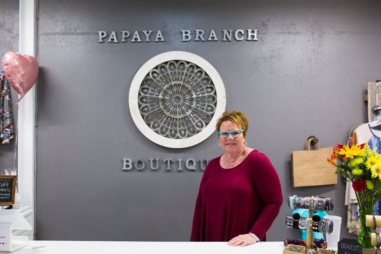 Laura Lyon of Papaya Branch Boutique.