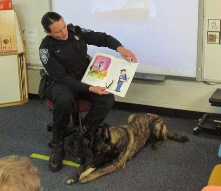 Reading to students is one of a Port Huron officer's fun jobs.