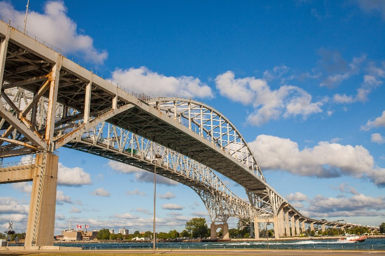 The Blue Water Bridge is a great focal point along the water in Port Huron.