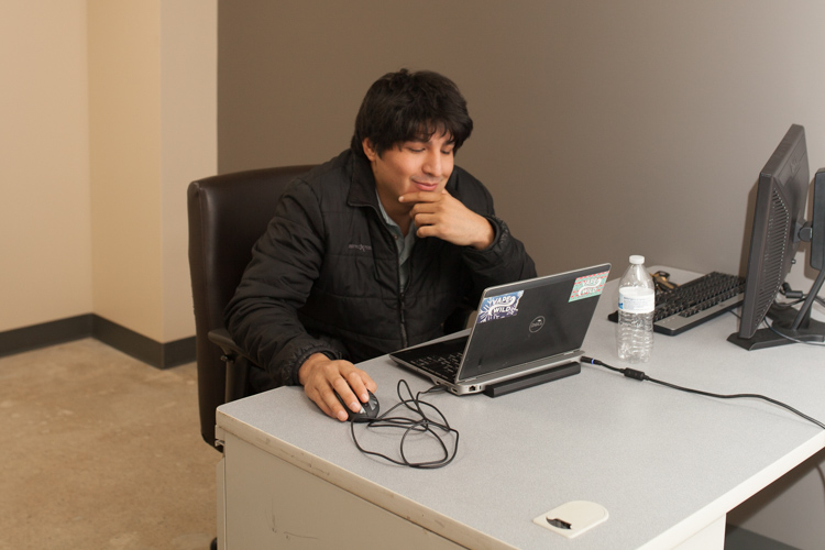 JJ Domeinguez of  J.D. Consulting works on IT projects at The Underground.
