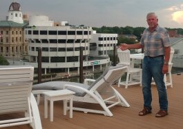 Rooftop patios are a key selling feature to lofts offered by investor Larry Jones.