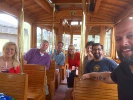 Part of Paul Singh's 2016 Tech Tour on the trolley in Port Huron.