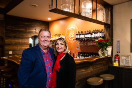 Jim and Annette Meldrum welcome wine lovers to their business.