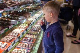 Finding treats in a candy store is a daunting chore for children.