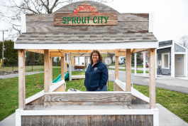 Parks and Recreation Director Nancy Winzer stands inside the Sprout City Market.