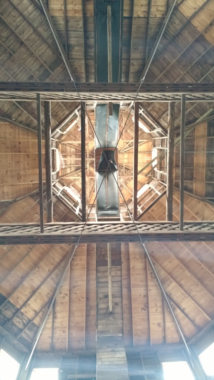 A unique view from inside the Octagon Barn
