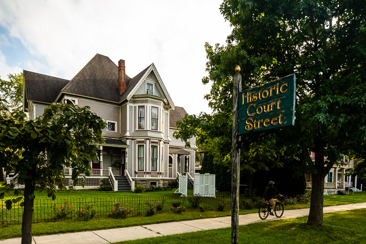 The historic homes in Olde Town harken back to the early settlement in Port Huron.