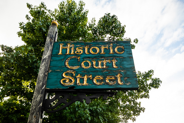Historic designations are marked across the Olde Town neighborhood.