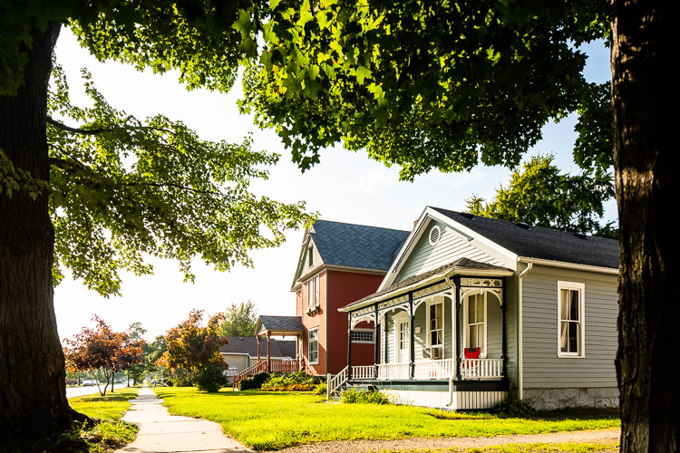 The Olde Towne Historic neighborhood harkens back to earlier times.