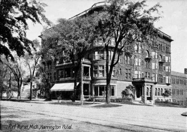 This photo depicts the Harrington Inn in downtown Port Huron in 1915./Courtesy Port Huron Museum