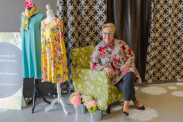 Laura Lyons loves finding great fashions for her customers.