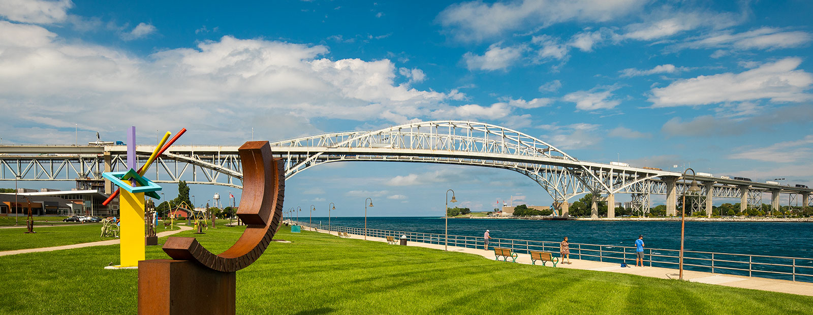 Beautiful blue skies and water making Port Huron an inviting place to live, work and play.