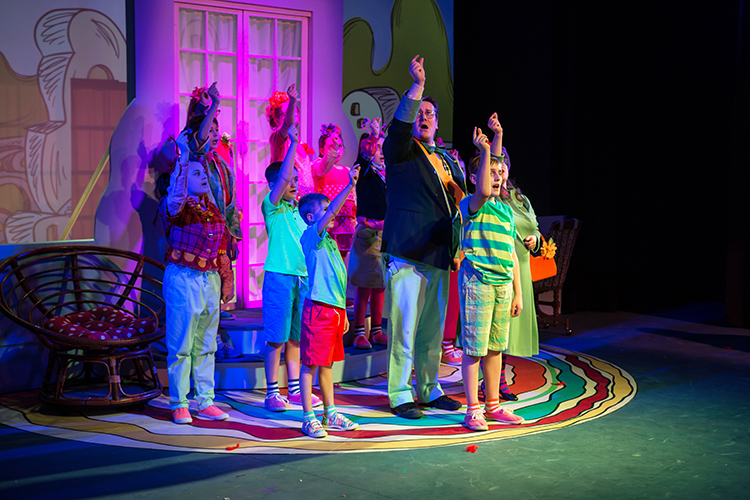 "Actors bring Dr. Seuss to life in ""Seussical the Musical.""/Photo by Chamira Young"
